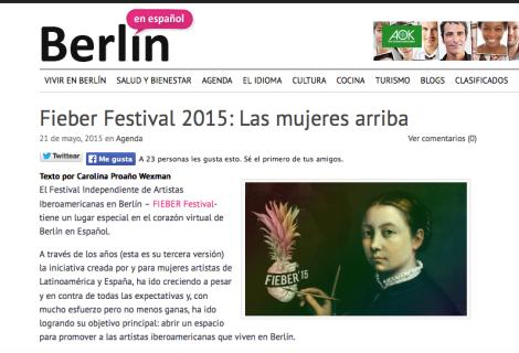 Berlín en Español - Las mujeres arriba Mayo 2015