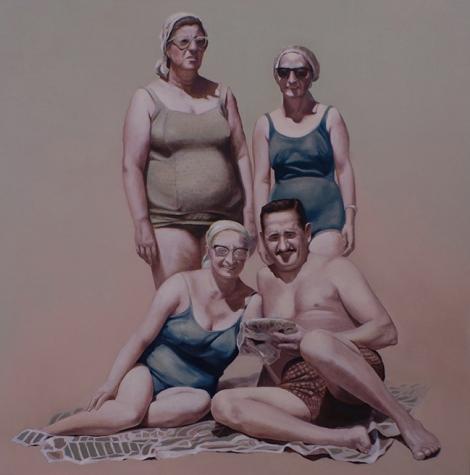 "San Clemente del Tuyú (1969)"", òleo sobre lienzo, 120 x 120 cm, 2014."