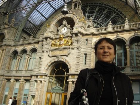 En la estación de Amberes, Bélgica, donde comienza la novela Austerlitz, de W.G.Sebald,(c)Alejandro Adonis