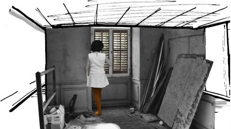 Carolina Boettner, Intervalo a Negro, Video instalación, Técnica: Video stopmotion, 00:04:30 / Alemania, 2014