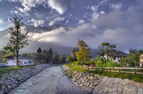 Panorámica de Garmisch Partenkirchen, Alemania