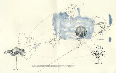 Melanie Garland, Sin Título, Dibujo sobre papel, 2013